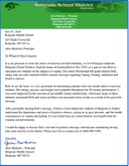 Belgrade Middle School Recommendation letter - Belgrade Montana - Rob Holladay