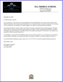Zia Middle School - Reference Letter